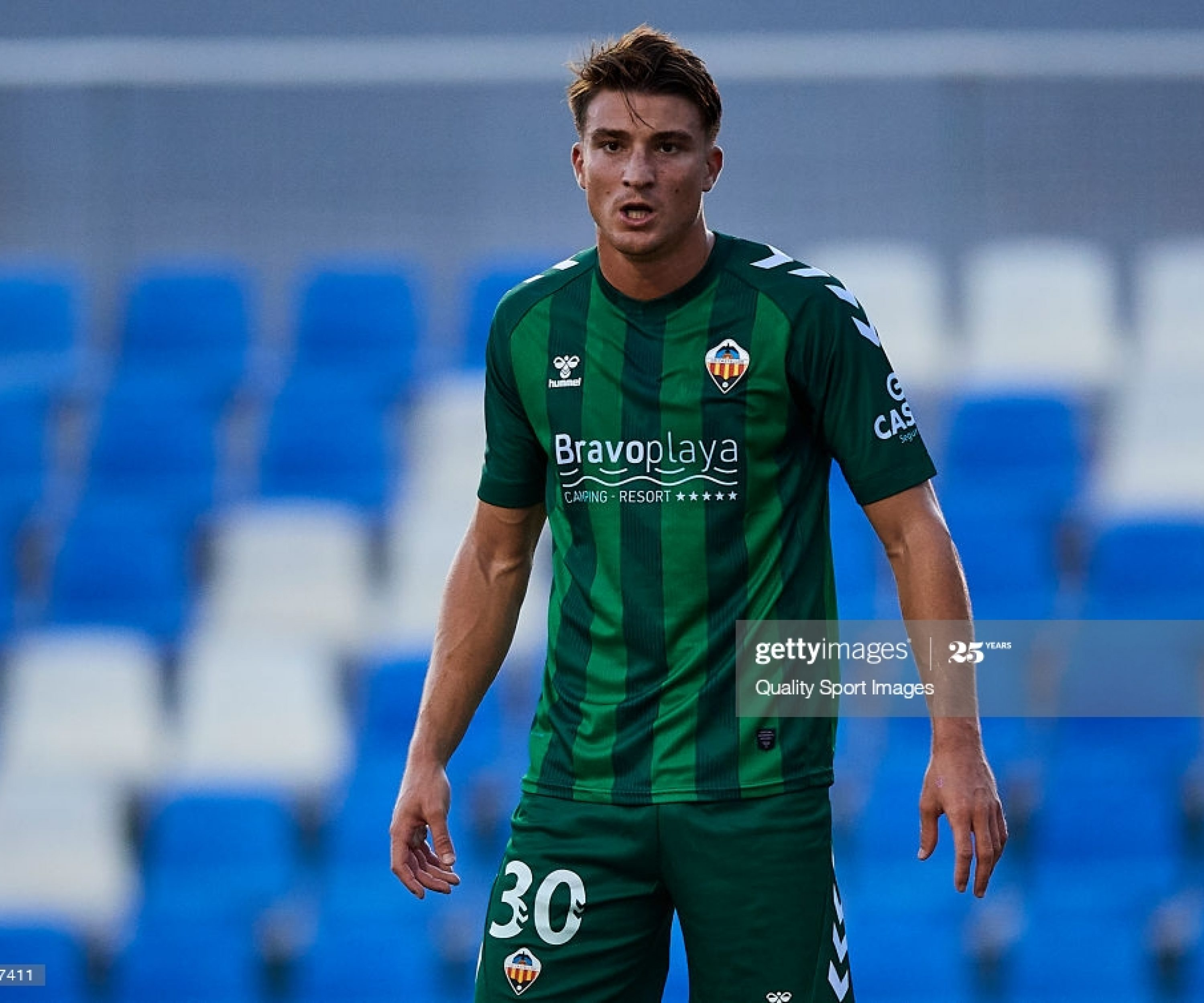 MURCIA, SPAIN - SEPTEMBER 01: Jordi Sanchez of Castellon looks on during a Pre-Season friendly match between Mallorca and Castellon at Pinatar Arena on September 01, 2020 in Murcia, Spain.  (Photo by Silvestre Szpylma/Quality Sport Images/Getty Images)